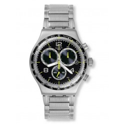 Swatch Mens Sprinkled Water Chronograph Watch YVS411G
