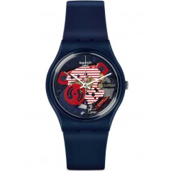 Swatch Mens Porticciolo Blue Watch GN239