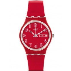Swatch Ladies Red Poppy Field Watch GW705