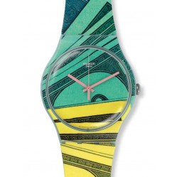 Swatch Men's Multicoloured Money-Honey Watch SUOG107