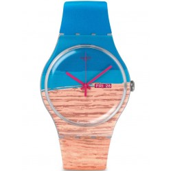Swatch Unisex Blue Pine Strap Watch SUOK706