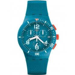 Swatch Mens Patmos Chronograph Strap Watch SUSN406