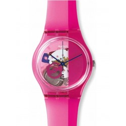 Swatch Ladies Pinkorama Strap Watch GP145