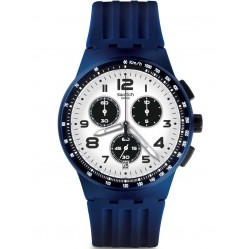 Swatch Unisex Travel Choc Chronograph Strap Watch SUSN408