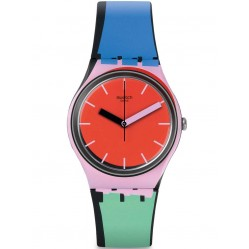Swatch Unisex A Cote Multi Colour Strap Watch GB286