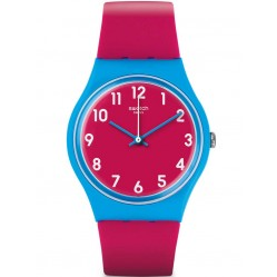 Swatch Ladies Lampone Pink Strap Watch GS145