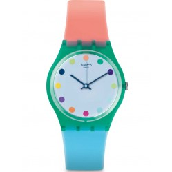 Swatch Ladies Rubber Strap Watch GG219