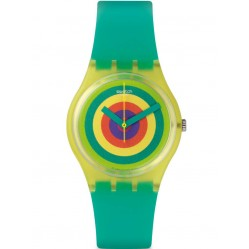 Swatch Mens Vitamin Boostr Green Strap Watch GJ135