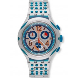 Swatch Mens 16 Dots Aluminum Bracelet Watch YYS4007AG