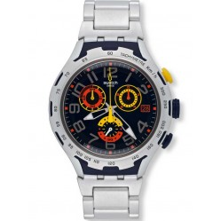 Swatch Mens Darkony Chronograph Bracelet Watch YYS4006AG