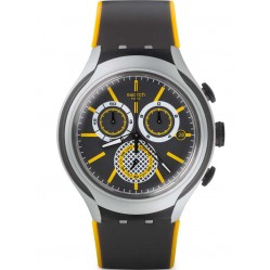 Swatch Mens Bee-Droid Chronograph Strap Watch YYS4008
