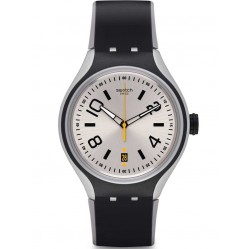 Swatch Mens Helsinki Black Strap Watch YES4010