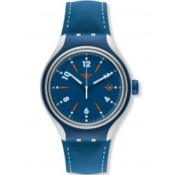 Swatch Mens Go Run Blue Strap Watch YES4000