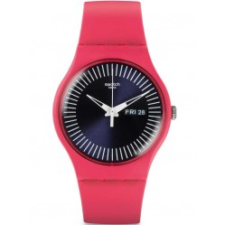 Swatch Unisex Berry Rail Pink Strap Watch SUOP702