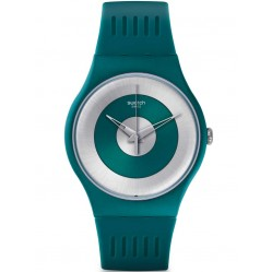 Swatch Unisex Computerion Green Strap Watch SUON114