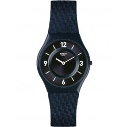 Swatch Blaumannn Blue Textile Strap Watch SFN123