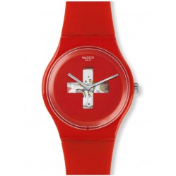 Swatch Unisex Swiss Around The Clock Strap Watch SUOR106
