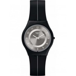 Swatch Unisex My Silver Black Watch SFB145