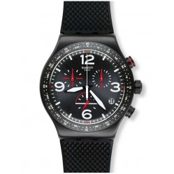 Swatch Mens Black is Back Watch YVB403