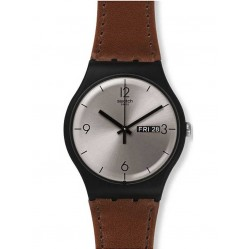 Swatch Mens Lonely Desert Strap Watch SUOB721