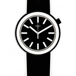 Swatch Poplooking Black Strap Watch PNB100