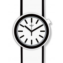 Swatch Popmoving White Strap Watch PNW100
