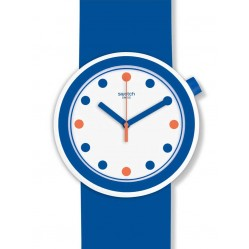 Swatch Popiness Blue Strap Watch PNW103
