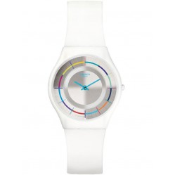 Swatch Unisex White Party Strap Watch SFW109