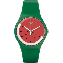 Swatch Unisex Pasteque Strap Watch SUOG109