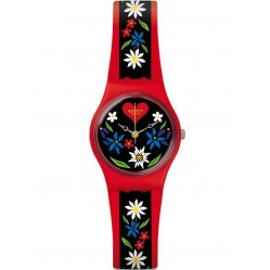 Swatch Roetli Red Strap Watch LR129