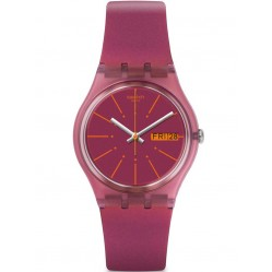Swatch Sneaky Peaky Pink Strap Watch GP701