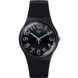 Swatch Secret Numbers Black Strap Watch SUOB133