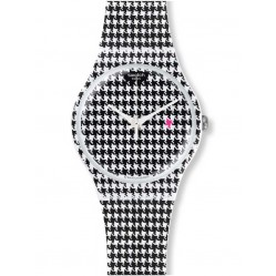Swatch Chicken Run Black And White Strap Watch SUOW138