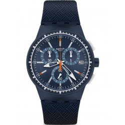 Swatch Mens Gara In Blu Strap Watch SUSN410