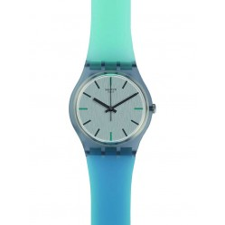 Swatch Mens Sea Pool Turquoise Strap Watch GM185