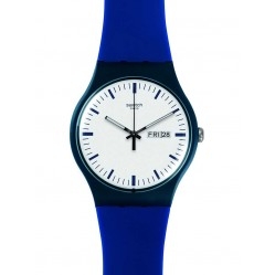 Swatch Mens Bellablu Blue Strap Watch SUON709