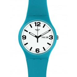 Swatch Mens Costazzurra Blue Strap Watch SUOS704
