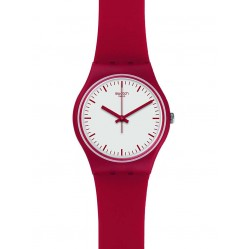 Swatch Mens Puntarossa Red Strap Watch GR172