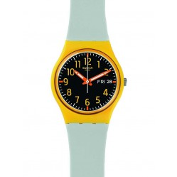 Swatch Mens Hamarace Yellow Strap Watch GO702