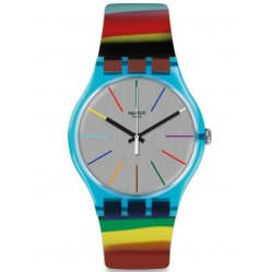 Swatch Colorbrush Strap Watch SUOS106