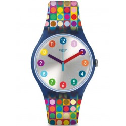 Swatch Rounds and Squares Strap Watch SUON122