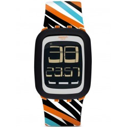 Swatch Scratch the Touch Strap Watch SURO102
