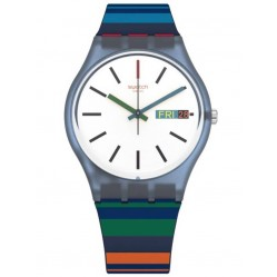 Swatch Color Crossing Multicolour Rubber Strap Watch GN724