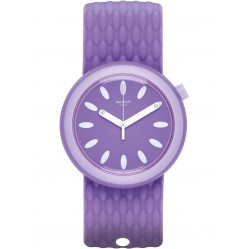 Swatch Swimpop Purple Rubber Strap Watch PNV101