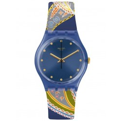 Swatch Unisex Silky Way Rubber Strap Watch GN263