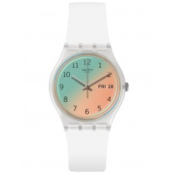 Swatch Unisex Ultrasoleil Ombre Effect Rubber Strap Watch GE720