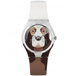 Swatch Unisex Rosie Bone the Cocker Spaniel Rubber Strap Watch GE277