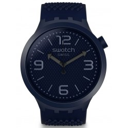 Swatch Unisex BBNavy Blue Rubber Strap Watch SO27N100