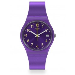 Swatch Purplazing Purple Rubber Strap Watch GV402