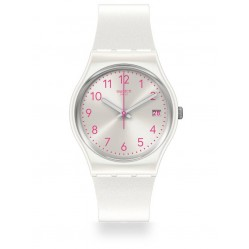 Swatch Pearlazing White Rubber Strap Watch GW411